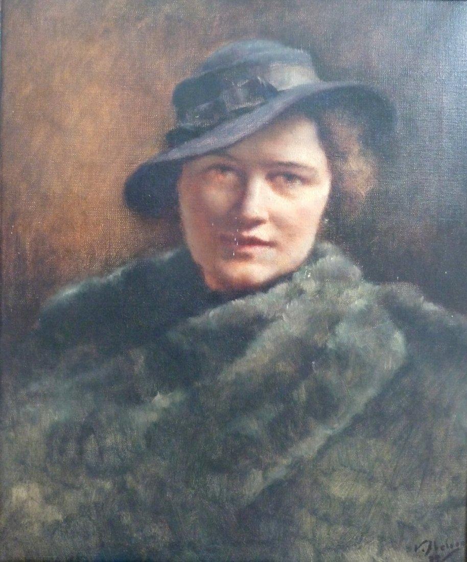 Victor ABELOOS (1881-1965) Portrait de femme, 1939 Huil