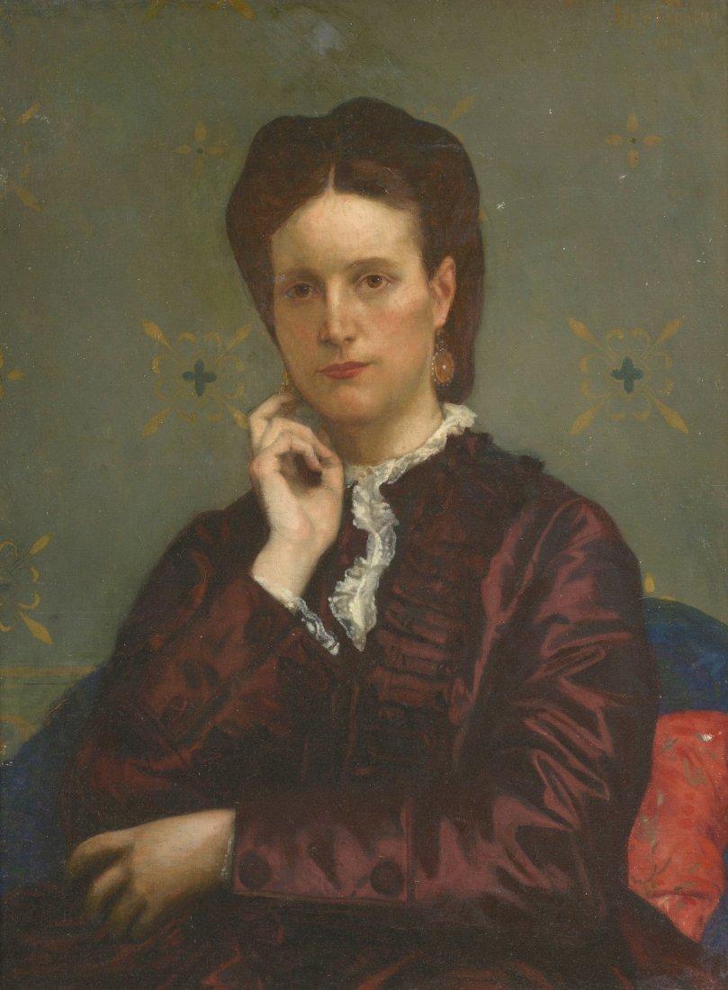Alexandre CABANEL (1823-1889) Portrait, 1873 Huile sur