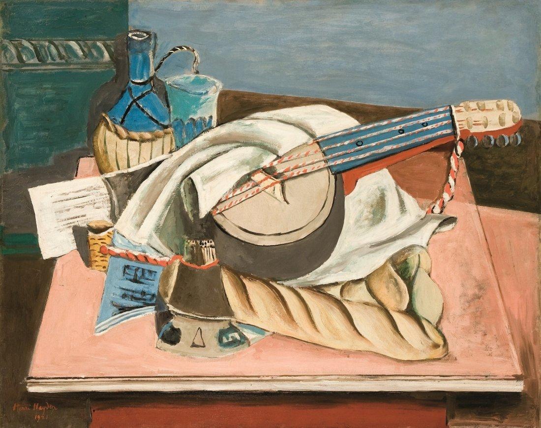 °Henri HAYDEN (1883-1970) Nature morte avec mandoline,