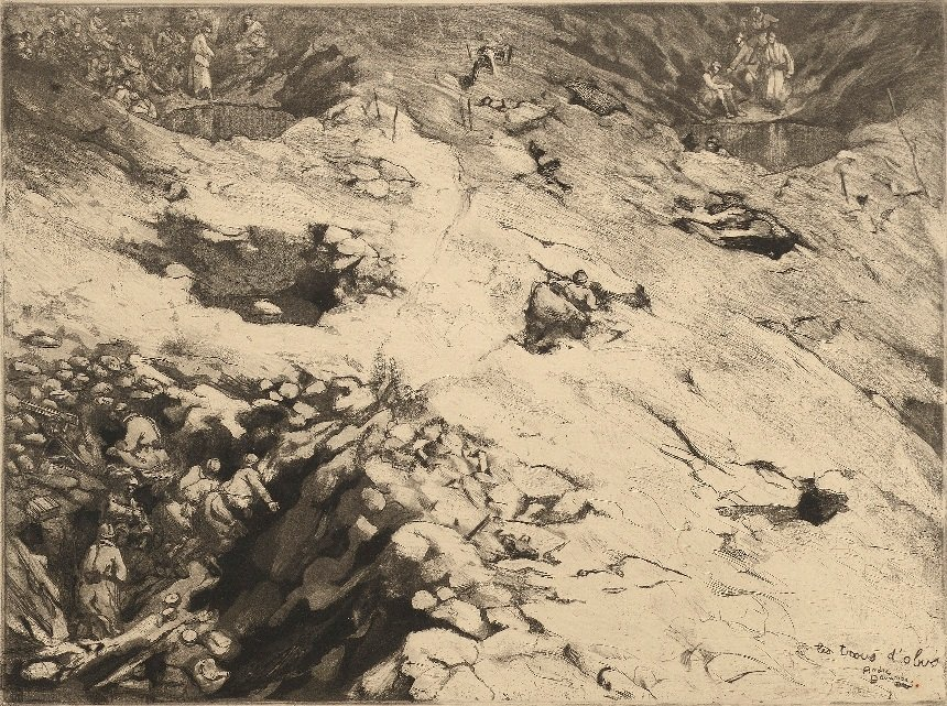 André DEVAMBEZ (1867-1944) Douze eaux-fortes [Guerre
