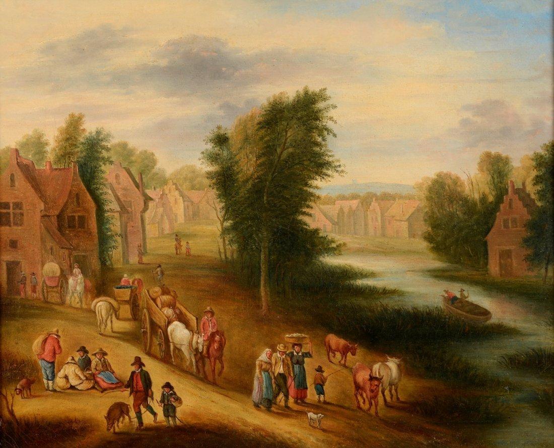 Théobald MICHAU (1676-1765), Suiveur de  Scène de