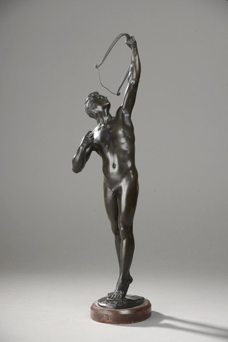 Josef UPHUES (1850-1911, Berlin) L'archer, circa 1890