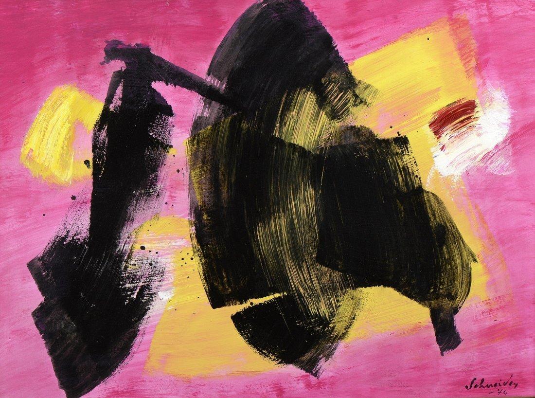 Gérard SCHNEIDER (1896-1986) Composition abstraite,1974