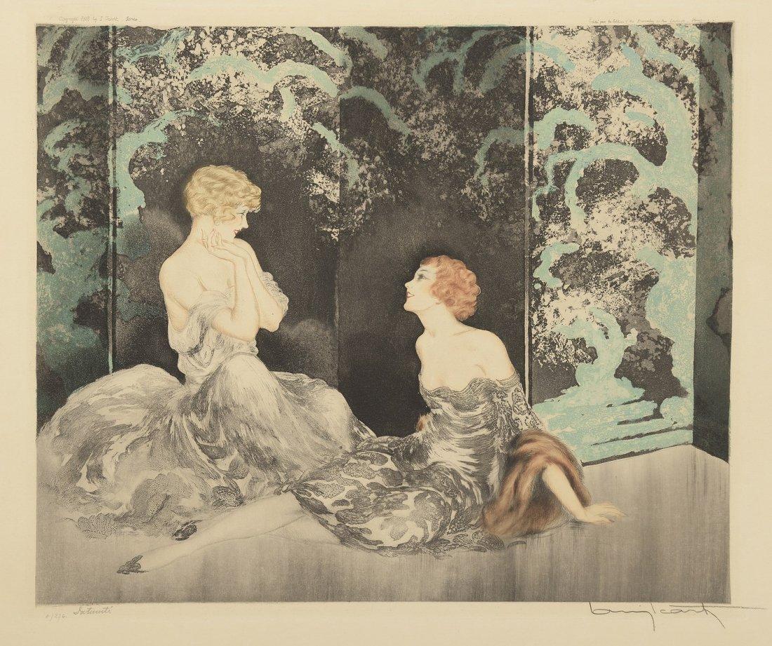 ICART Louis (1888-1950) Deux femmes, Intimité
