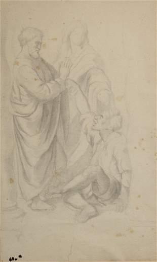 Edgar DEGAS (1834-1917) Saint Pierre guérissant le