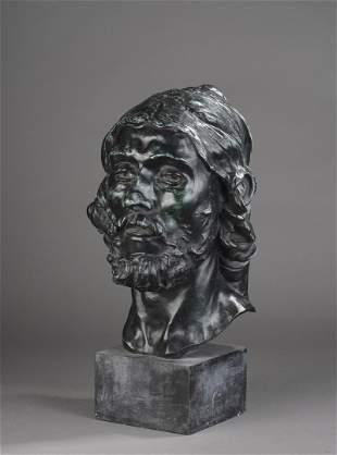 Auguste RODIN (1840-1917) Tête de St-Jean-Baptiste
