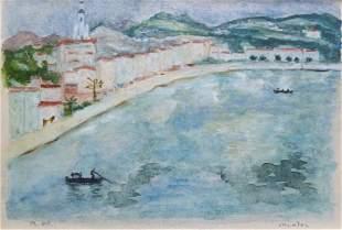 Albert MARQUET (1875-1947) Menton Aquarelle avec