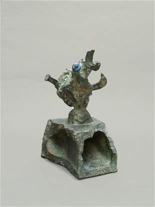 Joan MIRÓ (1893-1983) Tête, 1970 Épreuve en bronze à