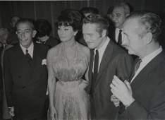 Daniel CANDE (Né en 1938)Sophia Loren ,Paul Newman