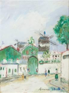 Maurice UTRILLO (Paris 1883 - Dax 1955) Le Moulin de