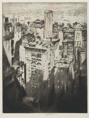 2012005: AMERICAN PRINTMAKERS Two etchings with drypoin