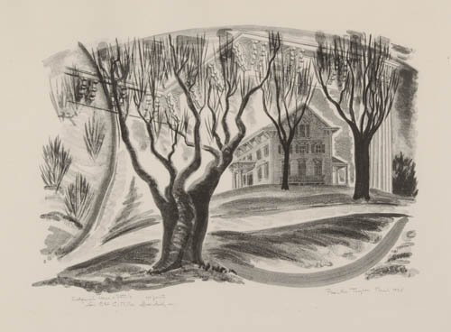 2012022: AMERICAN PRINTMAKERS Group of 5 lithographs.