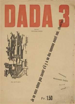 (DADA.) Tzara, Tristan; editor. Dada 3.