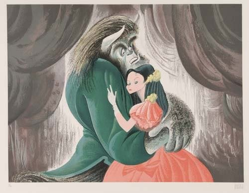 2015014: AL HIRSCHFELD. Beauty and the Beast: Terence M