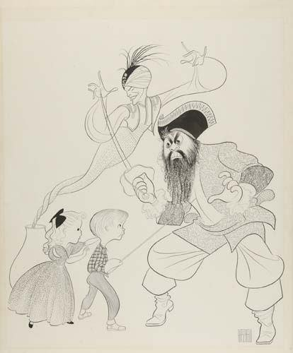 2015020: AL HIRSCHFELD. The Boy and The Pirates.