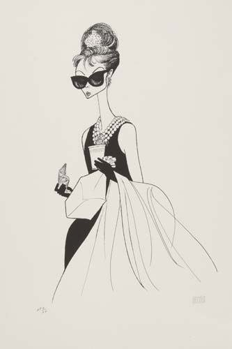 2015022: AL HIRSCHFELD. Breakfast at Tiffany's, I: feat