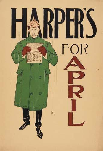 2016005: Posters EDWARD PENFIELD HARPER'S APRIL. 1893.