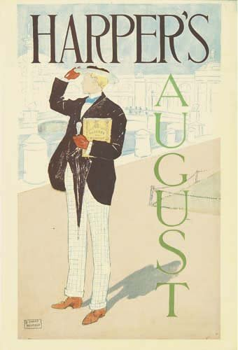 2016008: Posters EDWARD PENFIELD HARPER'S AUGUST. 1893.