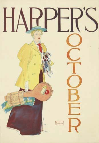 2016010: Posters EDWARD PENFIELD HARPER'S OCTOBER. 1893