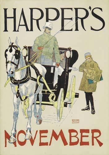 2016011: Posters EDWARD PENFIELD HARPER'S NOVEMBER. 189