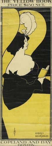 2016013: Posters AUBREY BEARDSLEY THE YELLOW BOOK. 1894
