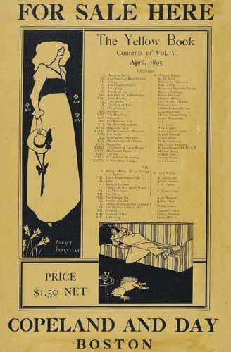 2016014: Posters AUBREY BEARDSLEY THE YELLOW BOOK. 1895