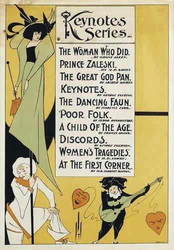 2016015: Posters AUBREY BEARDSLEY KEYNOTES SERIES. 1896