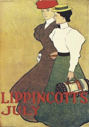 2016051: Posters J. J. GOULD, JR LIPPINCOTT'S JULY. 189