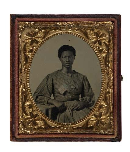 2017009: (CASED IMAGES) Hand-tinted sixth-plate tintype