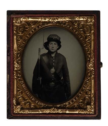 2017010: (CASED IMAGES) Sixth-plate ambrotype of a youn