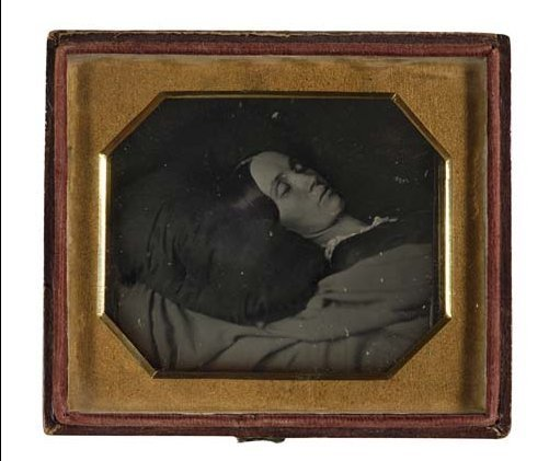 2017012: (CASED IMAGES) Sixth-plate daguerreotype post