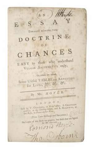 HOYLE, EDMOND. An Essay Towards Making the Doc