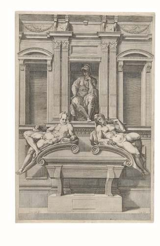 2020136: CORNELIS CORT (after Michelangelo) The Tomb of