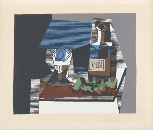 2020739: PABLO PICASSO (after) Cubist Composition: Stil