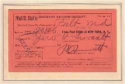 2021190: (LINCOLN ASSASSINATION.) SURRATT, JOHN. Signat