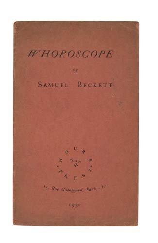 2022023: BECKETT, SAMUEL. Whoroscope.
