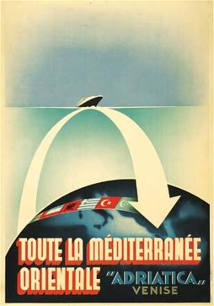 "Poster ANONYMOUS. ""ADRIATICA"" / TOUTE LA MEDIT"
