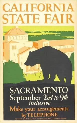 Poster ANONYMOUS. CALIFORNIA STATE FAIR. Circa