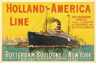 Poster ANONYMOUS. HOLLAND-AMERICA LINE. 39x58