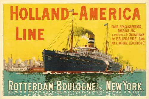 2023018: Poster ANONYMOUS. HOLLAND-AMERICA LINE. 39x58