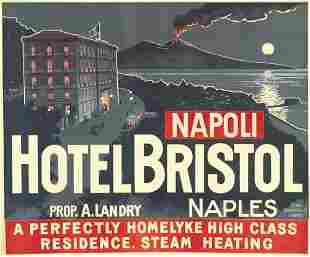 Poster ANONYMOUS. HOTEL BRISTOL. 40x49 inches.