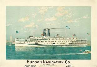 Poster ANONYMOUS. HUDSON NAVIGATION CO. 1910.