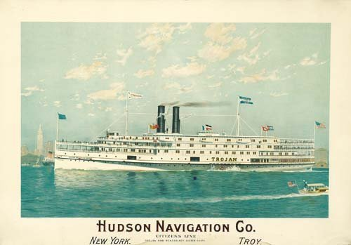 2023020: Poster ANONYMOUS. HUDSON NAVIGATION CO. 1910.