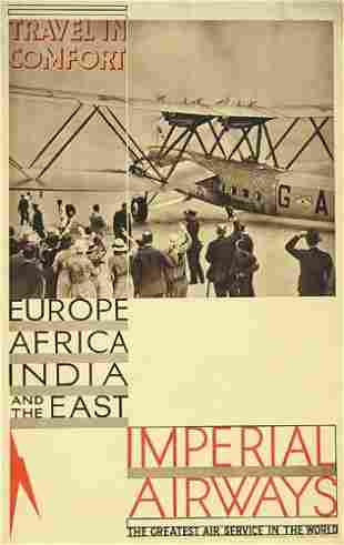 Poster ANONYMOUS. IMPERIAL AIRWAYS / TRAVEL IN