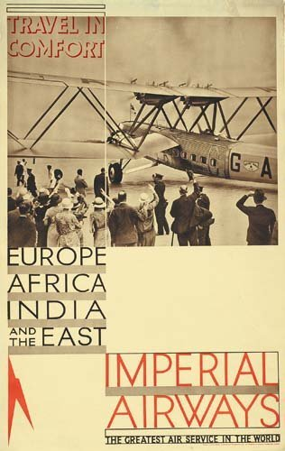 2023021: Poster ANONYMOUS. IMPERIAL AIRWAYS / TRAVEL IN
