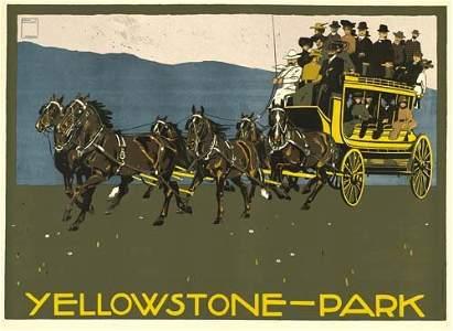 2023087: Poster LUDWIG HOHLWEIN. YELLOWSTONE-PARK. 1910