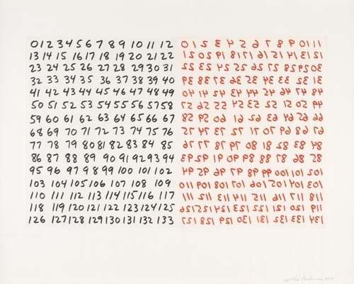 2024023: MEL BOCHNER Two etchings.