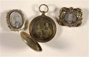 (DAGUERREOTYPES) Group of 3 pieces of daguerre