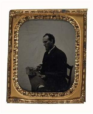 (MEDICAL) Sixth-plate tintype of Dr. Hubble