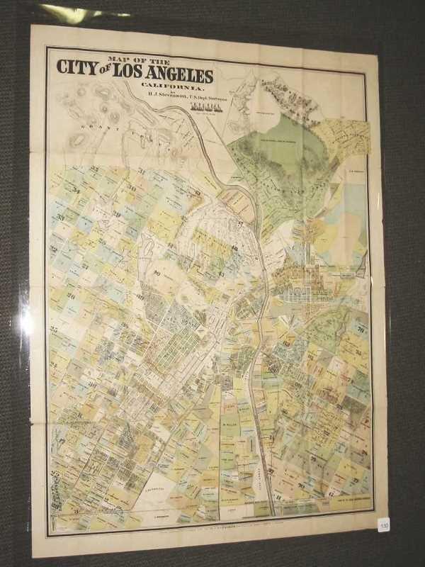 2027130: (LOS ANGELES.) Stevenson, H. J. Map of the Cit